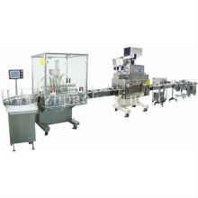Automatic Liquid Packing Line With Filling capping and labeling Line