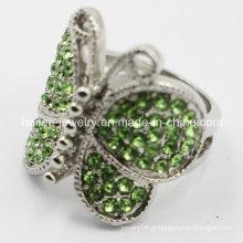 Borboleta anel de moda de aço inoxidável para as mulheres