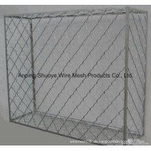 Maschendrahtzaun verzinkt, PVC beschichtet, galvanisierte Zaunplatte