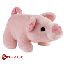 Treffen Sie EN71 und ASTM Standard weiches Spielzeug rosa Schwein