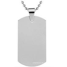 Titanium Steel Army Card Tag de cão de aço inoxidável, Atacado Metal Custom Tags
