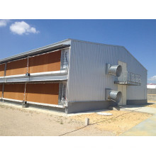 Maison de poulet de volaille préfabriquée fermée de double-plate-forme (hygiénique et solide) (KXD-PCH12)
