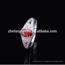 Anillo de plata de moda 2018 con piedra de ópalo