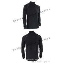 Men′s Long Sleeve Black Fitness High Collar Fashion Leisure Sports Coats