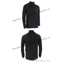 Homens de manga longa Black Fitness High Collar Moda Lazer Casacos Sports