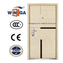 Aço de chapa de MDF de luxo competitivo - Porta blindada de madeira (W-A8)
