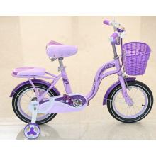 Kids Quatro rodas bicicleta com cesta