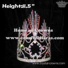 Wholesale Straight Colorful Spike Pageant Crowns