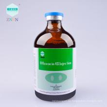 Muestra gratuita de bajo precio Ofloxacina 4% Inyección