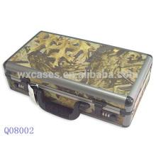caja de arma militar aluminio con piel de tela de camuflaje y con espuma interior fabricante