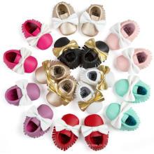 Chaussures bébé bowknot et glands de 9 couleurs
