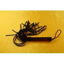 Black ULTRA Rubber Flirting Tail Horse Whip