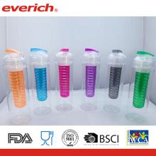 Fruta com garrafa Tritan Tritan Plastic com etiqueta particular BPA