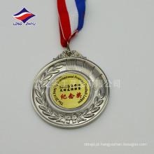 Medalhas de esporte em branco personalizadas fazem medalhas de metal