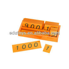 Montessori Materials Small Wooden Number Cards With Box (1-1000)
