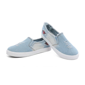 Slip-on Jean Canvas Shoes för män