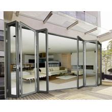 Folding Type Double Glazed Aluminium Exterior Door