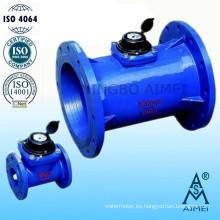 Medidor de agua fría (caliente) de hierro fundido tipo Woltman