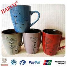 Hand Painted Dandelion Ceramic Mug