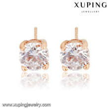 20538 xuping wholesale simple designed gold plated stud earrings