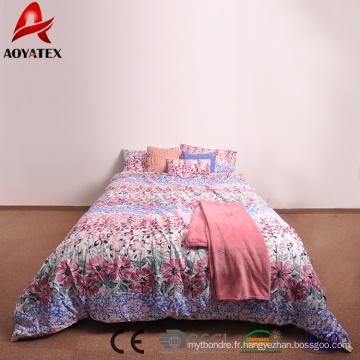 85gsm 100% polyester king size courtepointes, 7 pcs quilts bon marché de haute qualité à vendre
