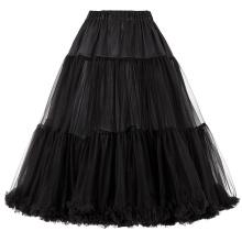 Belle Poque Luxury Retro Dress Petticoat Black Vintage Dress Crinoline Petticoat Underskirt BP000178-1
