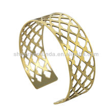 Design manufacture women's men's stainless steel fashion jewellery Gold-plated hollow out style statement bracelets bangles