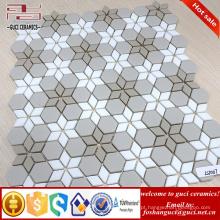 Fornecedor chinês 2017 Novo Parquet design telha de parede de mosaico de vidro de cristal