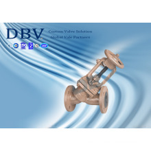 Válvula de Globo Sentado de Borracha de PTFE Wcb com Aprovação Ce