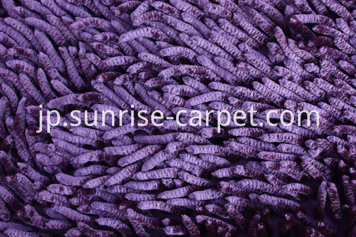 Shinning Polyester Chenille Rugs purple