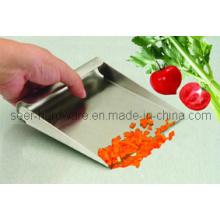 Colher de alimentos de aço inoxidável / colher de medição / pá de raspagem de bancada / pá de alimentação (se2404)