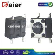Daier KFC-045-HB Pie corto 4.5 * 4.5 * H (H = 3.8, 4.8, 5.0, 7.0mm) Interruptor táctil de 4 pines