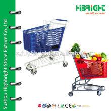 supermarket plastic shopping cart