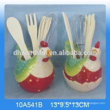 O suporte de utensílios de cerâmica mais popular para cozinha