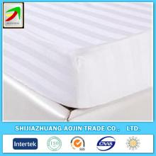 cvc 240T white satin stripe 3cm fabric