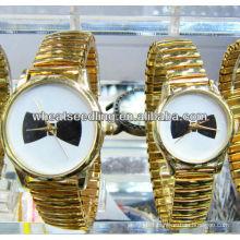 gold plated quartz couple wristwatch JW-01