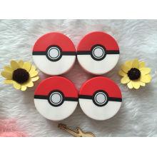 Nova impressão 3D colorida Premium 8000mAh Mystic Team Pokemon Go Pokeball Power Bank