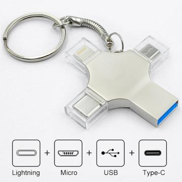 4 em 1 Otg USB Flash Drive Type-c