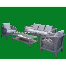 Горячая дизайн 2013 Майами софа ротанга PE установленная напольная мебель