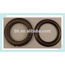 16mm 19mm Antique Brass Curtain Drapery Grommet Rings With Washer Eyelet