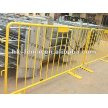 1 valla de barrera metálica, barrera de tráfico barrera de la multitud, barrera de barra v-foot, barrera peatonal