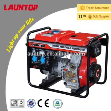 180A & 5kw Luftgekühlter 4-stufiger tragbarer Schweißdieselgenerator LDW180ARE