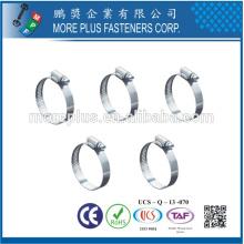 Taiwan en acier inoxydable Type de vide rond en forme ovale Schlauchklemmen Bras de serrage