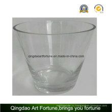 Ручная работа с большим стеклянным стаканом для домашнего украшения