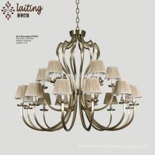 Guzhen wholesale antique bronze candle chandelier with shade 81941