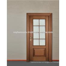 2017 New Design de noz de luxo porta de vidro de madeira