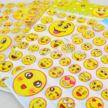 Cute Smiling Face Crying Face 3D Epoxy Sticker