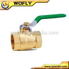 Válvula de esfera de gás de bronze para água, óleo, gás