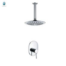 KI-13 economic single lever shower room accessories parts ceramic valve solid copper build in ceiling shower head