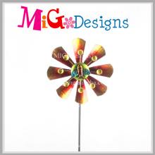 Atractivo Metal Flower Wind Spinner Yard Stake